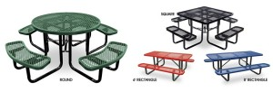 square picnic table